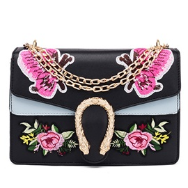 Korean Style Embroidery Women Crossbody Bag