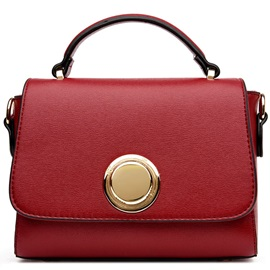 All Match Solid Color Women Satchel