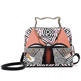 Geometric Pattern Print Shell Crossbody Bag