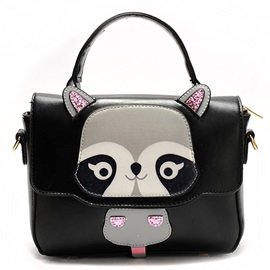 Lovely Animal Pattern PU Satchel