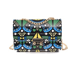 Printed Design Geometric Pattern Crossbody Bag
