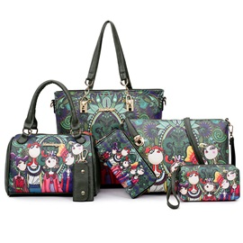 Korean Style Fashion Printing Bag Set