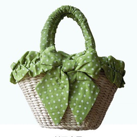Casual Bow Design Women Fabric Bag