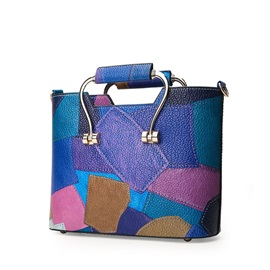 Vogue Color Block Design Satchel