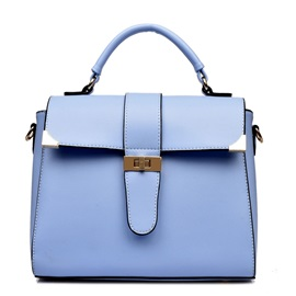 Solid Color Belt-Decorated Women Satchel