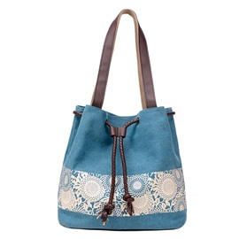 Retro Printing Canvas Tote Bag