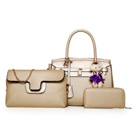 Graceful Embossing Women Bag Set