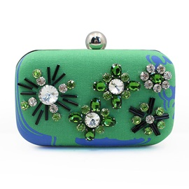 Trendy Bead Decoration Evening Clutch