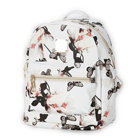Stylish Floral Printing Canvas Women Backpack