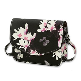 Vogue Butterfly Floral Pattern Crossbody Bag