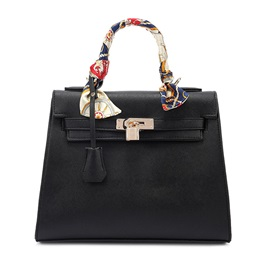 Retro Silk Scarves Decoration Satchel
