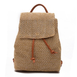 Preppy Chic Rattan Grass Backpack
