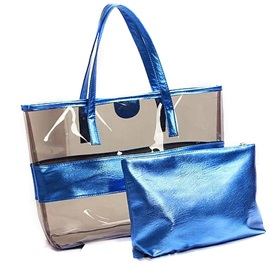 Solid Color Waterproof Transparent Bag Set