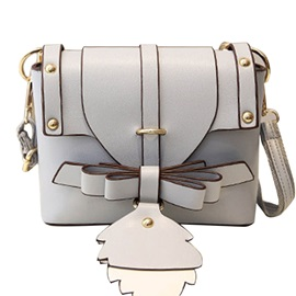Graceful Bowknot Adornment Cross Body Bag
