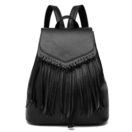Versatile Tassel Design Women Backpack