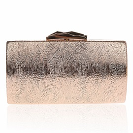 Simple Solid Color Chain Evening Clutch