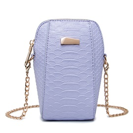 Unique Croco-Embossed Vertical Crossbody Bag