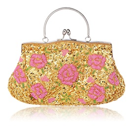 Vogue Embroidery Handmade Beads Clutch