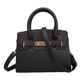 Stylish Solid Color Zipper Women Satchel