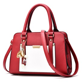 Concise Exquisite Pendant Zipper Satchel