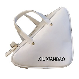 Triangle Shaped Solid Color Crossbody Bag