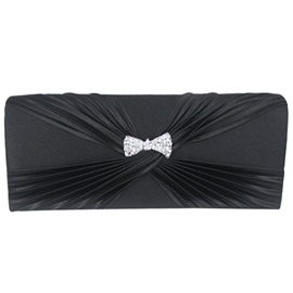 Korean Style Silk Pleated Women Evening Clutch