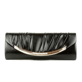 Simple Pleated Rhinestone Decoration Evening Clutch