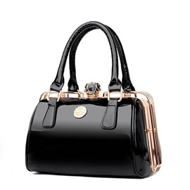 Fashion Patent Leather Pillow Satchel