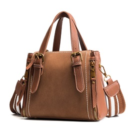 Korean Style Solid Color Zipper Women Tote
