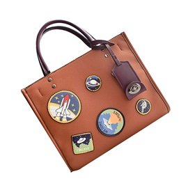 Personality Badge Decoration Women Satchel