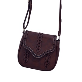 Vintage Hand Rope Pattern Crossbody Bag