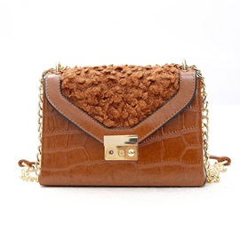 Trendy Embroidered Plush Women Crossbody Bag