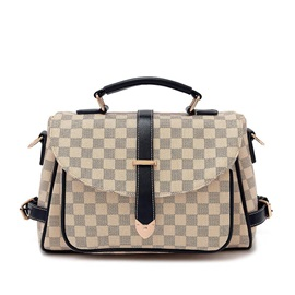 Classical Plaid Women PU Crossbody Bag