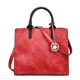 Well Match Solid Color PU Satchel