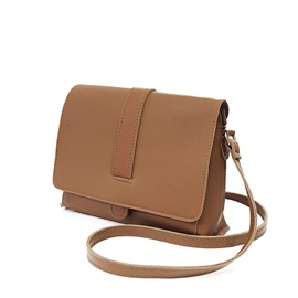 Well Match Solid Color PU Crossbody Bag