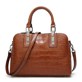 Vogue Croco-Embossing PU Women Satchel