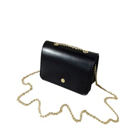 Casual Solid Color Chain Mini Crossbody Bag