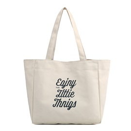 Casual Letter Pattern Canvas Shoulder Bag