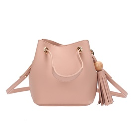 Casual Solid Color PU Crossbody Bag