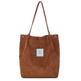 Plain Corduroy Women Shoulder Bag