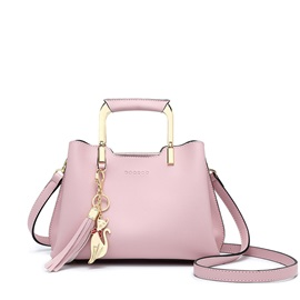 Exquisite Pendant Plain Women Satchel