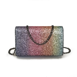 Sequins Gradient Design Crossbody Bag
