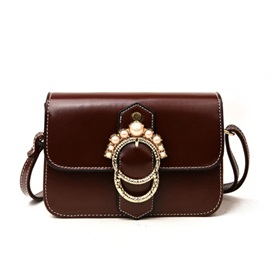 Pearl Decoration Women Crossbody Bag