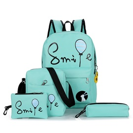Korean Style Canvas Children Bakpack( 4 Bag Set)