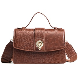 Croco-Embossed Plain Women Crossbody Bag
