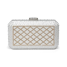 Concise Rhinestone Decoration Women Clutch