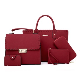 Occident Style Solid Color Bag Sets