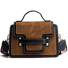 Trendy Plain Women PU Cross Body Bag