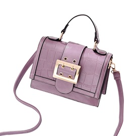 Modern Style Belt Decorated Tote Bag