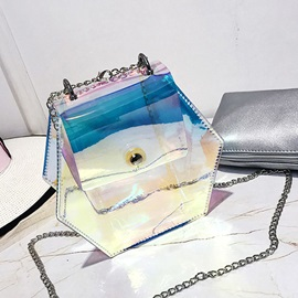 Dazzling transparent PVC Chain Jelly Bag